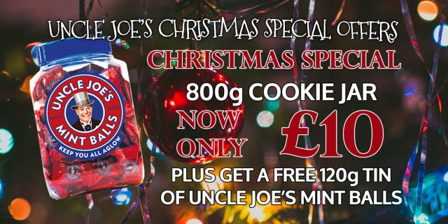 Uncle Joe's Mint Balls 800g Cookie Jar