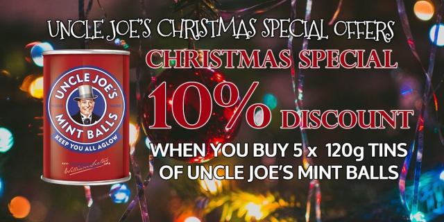 Uncle Joe's Mint Balls 120g Tin