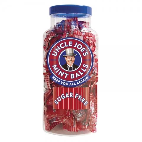 Uncle Joe's Sugar Free Mint Balls 1.4kg Jar