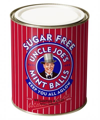 Uncle Joe's Sugar Free Mint Balls 120g Tin