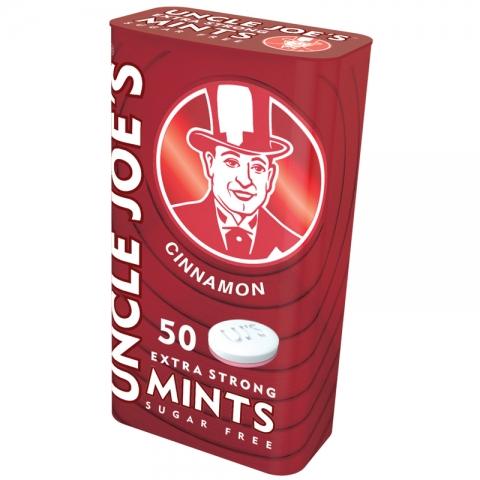UJ's Extra Strong Sugar Free Mints – Cinnamon – 35g Tin