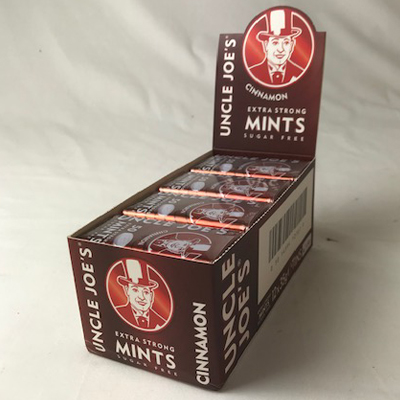UJ's Extra Strong Sugar Free Mints – Cinnamon – 35g Tin – Case of 12