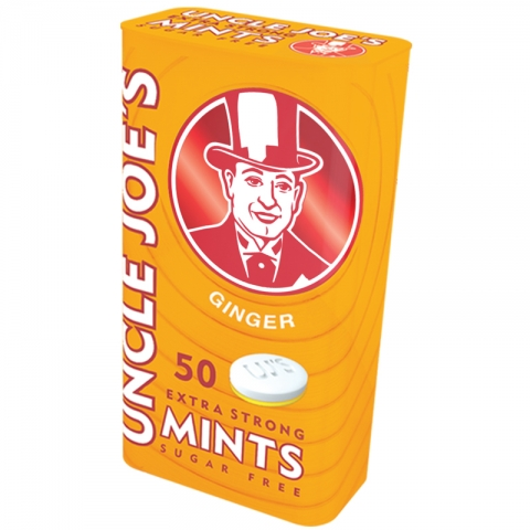 UJ's Extra Strong Sugar Free Mints – Ginger – 35g Tin