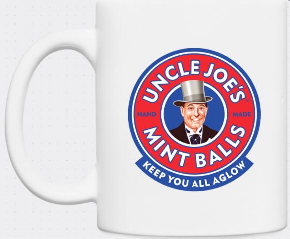 White Ceramic Uncle Joe's Mug