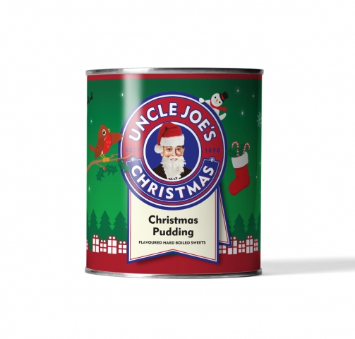 Christmas Pudding Flavoured Sweets 120g Tin